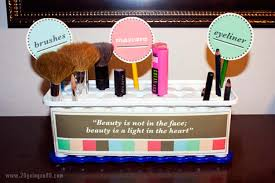diy makeup organizing ideas ice cube tray makeup holder projects for makeup drawer