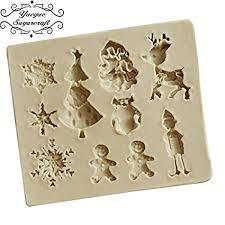 Buy SRS Pine <b>Christmas Santa Claus Silicone</b> Mold Fondant Online ...