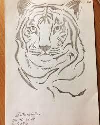 тигр рисунок карандашом Yugofe Art рисунок рисуноккарандашом