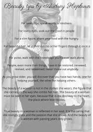 Audrey Hepburn Beauty Tips Quote Best of Audrey Hepburn Beauty Tips Quotes