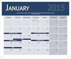 Training Calendar Template 341 Excel Calendar Template