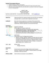 Cv For Experienced Chronological Resume Definition Format Layout 103 Examples
