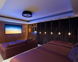 home mood lighting. midsized contemporary enclosed home theater idea in miami with a wallmounted tv mood lighting