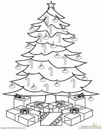 Color A Christmas Tree Worksheet