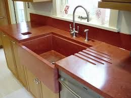 concrete is very versatile with many style design options not available with other types of kitchen countertops
