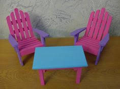 homemade barbie furniture. Fashion Barbie Furniture Chairs And Table Set By SEAKcreations, $25.00 Homemade E
