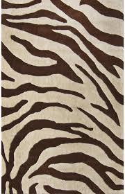 sneh rugs animal ani zebra brown modern rug