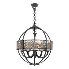 eurofase nal 28 in 5 light ancient bronze with antique gold mediterranean globe chandelier