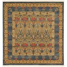 edinburgh carnation blue 6 0 x 6 0 square rug