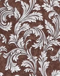 Bolcom Barok Behang Edem 1032 16 Vinylbehang Glad Met Ornamenten