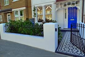 Small Picture Lovely modern take on wall top railings London terrace