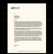 Letterhead Stationary Administrative Stationery Identity Drexel University