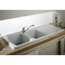 fireclay sink with drainer double bowl drop in kitchen sink 1200
