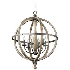 natural wood chandelier kichler iron 6 bulb simple