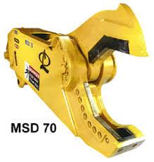hydraulic shear excavator. msd 70 in action, hydraulic excavator shear s
