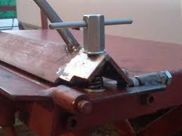 picture of diy sheet metal bender brake fully modified