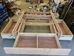 diy king bed frame. Plain Bed Stunning King Size Bed Frame Plans With Storage And Best 25  Ideas Intended Diy