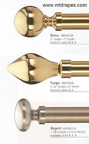 brass curtain rods target polished dry and finials with glass rings accessories item