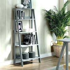 tall wooden ladder bookcases wood ladder bookcase gray inch furniture solid small decorative ladders wooden