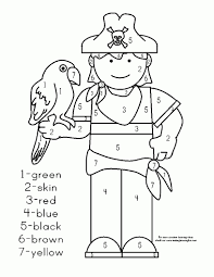 Piraat Met Papegaai Kleurplaat Kleurplaten Thema Piraten Kleuters In