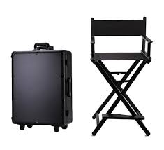 hoting professional trolley aluminum makeup case with lights and