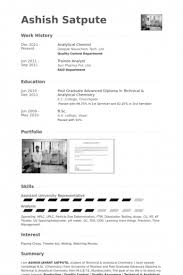 Analytical Chemist Resume 20 Example Of Qc Chemist Resume That Had Gone Way Too Far
