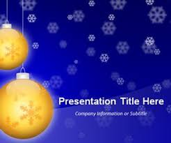 Blue And Gold Powerpoint Template Free Golden Balls Blue Powerpoint Template