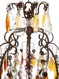 french chandelier with purple icicles and amber plaques circa 1900 at 1stdibs