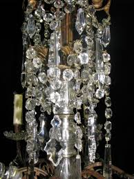 19c signed baccart cut crystal and gilt bronze 12 light chandelier 6