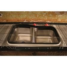 sink installation in concrete countertop