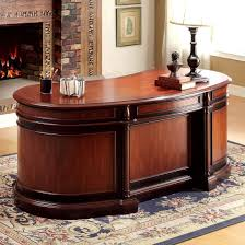 oval office desks. Furniture Of America Strandburg Oval Office Desk In Cherry/Black Desks