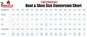 Know Your Shoe Size Safety Shoe Size Conversion Chart
