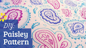 paisley pattern how to make paisley pattern youtube