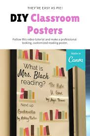 How To Design A Classroom Poster Diy Reading Poster Teacher Posters Reading Posters