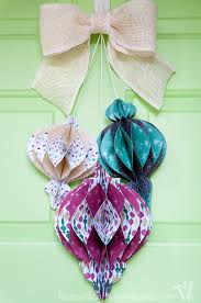 decorate your door with this beautiful diy giant paper ornament wreath fun and easy