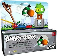 KNEX Angry Birds Hal Vs. Medium Minion Pig Set 72478 - ToyWiz
