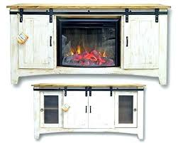 tv stand with a fireplace stand with barn doors rustic rough cut eggshell barn door stand