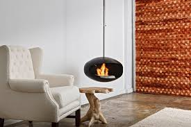 Bioethanol fireplace / contemporary / open hearth / hanging AERIS BLACK  Cocoon Fires ...