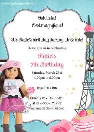 American Girl Grace Birthday Party Invitation
