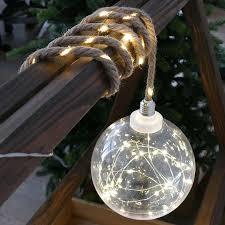 Weihnachtskugel Beleuchtet ø 20cm Groß Mit Seil Zum Aufhängen Strom