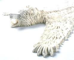 fake bear rug in the past a real skin would be symbol of luxury and wealth with head uk