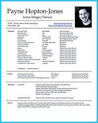 Actor Resume Resume Templates