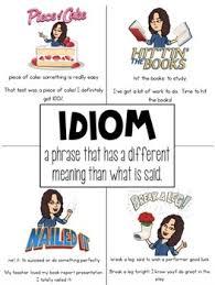 Bitmoji Idiom Anchor Chart Poster