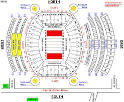 Tider Insider Bryant Denny Seating Chart