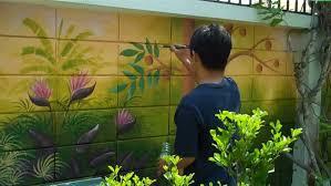 outdoor garden mural ideas outside