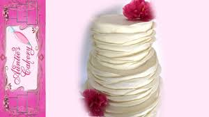 Ruffles Cake Design Wave Ruffle Wedding Cake Tutorial