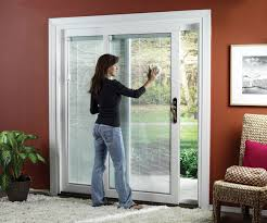 many homes have a sliding glass door or patio door with a screen door often leading to the backyard or deck opening the slider is a great way to allow