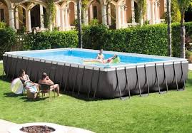 rectangle above ground swimming pool. Intex Ultra Frame Rectangular Above Ground Pool With Sand Filter Pump Rectangle Swimming O