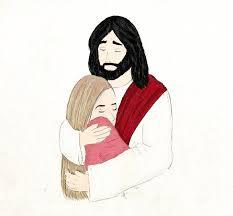 Resultado de imagem para abraçar jesus desenho