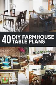 diy farmhouse dining room table. 40 Free DIY Farmhouse Table Plans To Give The Rustic Feel Your Dining Room Diy